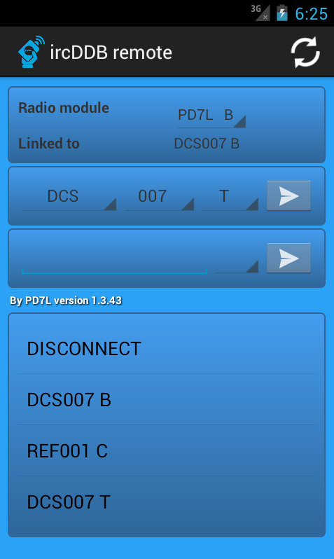 Small manual how to setup ircDDB remote for android to